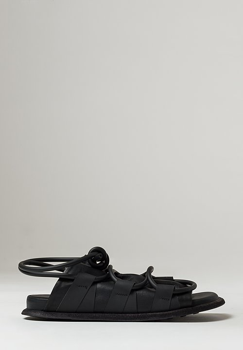 Puro Nappa Super Happy Holiday Sandals in Black