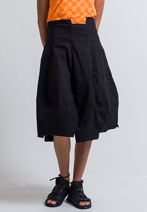 Rundholz Patchwork Skirt in Black