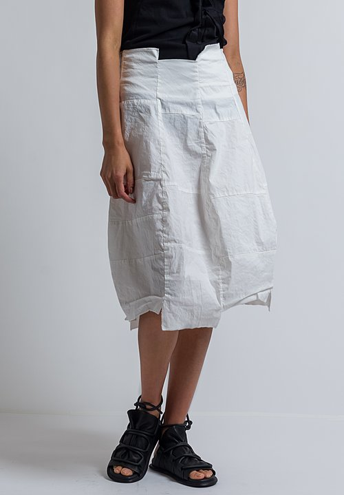 Rundholz Patchwork Skirt in Off White