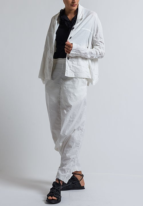 Rundholz Extreme Drop Crotch Pants in Off White