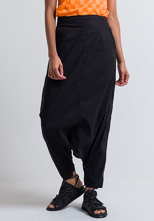 Rundholz Extreme Drop Crotch Pants in Black