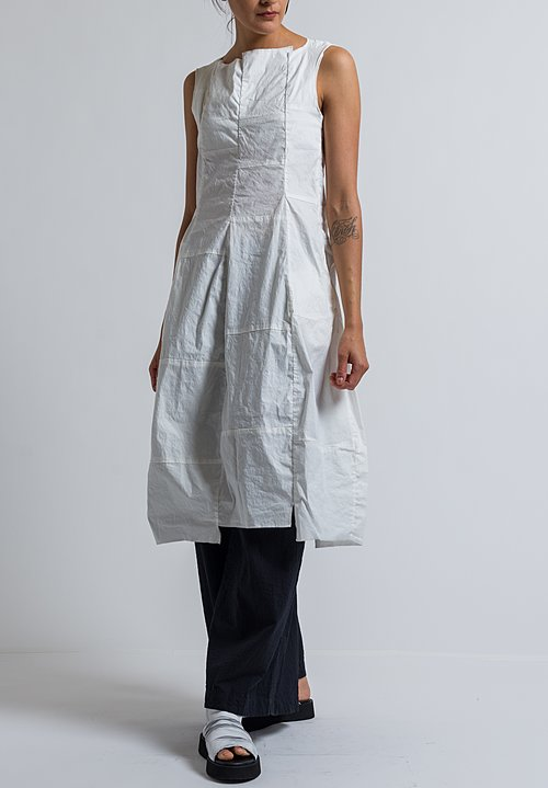 Rundholz Patchwork Tulip Dress in Off White