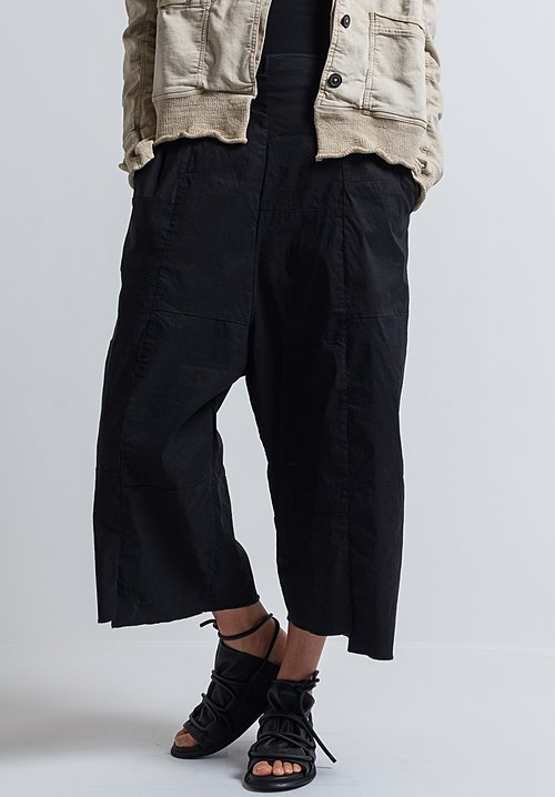 Rundholz Patchwork Wide Leg Pants in Black