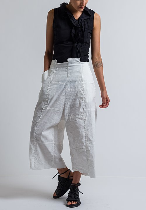 Rundholz Patchwork Wide Leg Pants in Off White