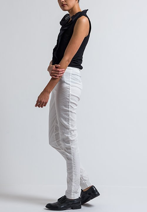 Rundholz Serged Skinny Pants in Off White