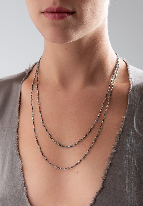 Miranda Hicks Labradorite Rosary Flapper Necklace