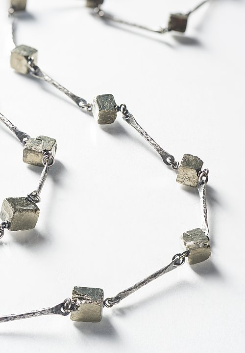Miranda Hicks Cubed Pyrite Necklace