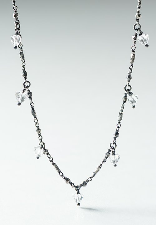 Miranda Hicks Rock Crystal, Long Fringe Necklace