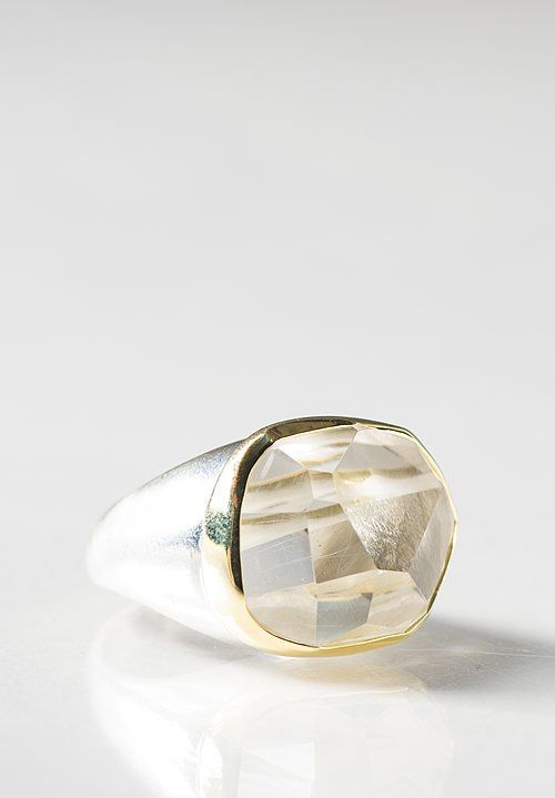 Margoni 18K and Sterling Silver Rock Crystal Ring