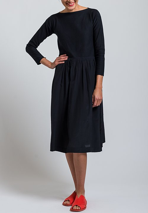 Daniela Gregis Cotton/ Silk Knitted Dress in Black
