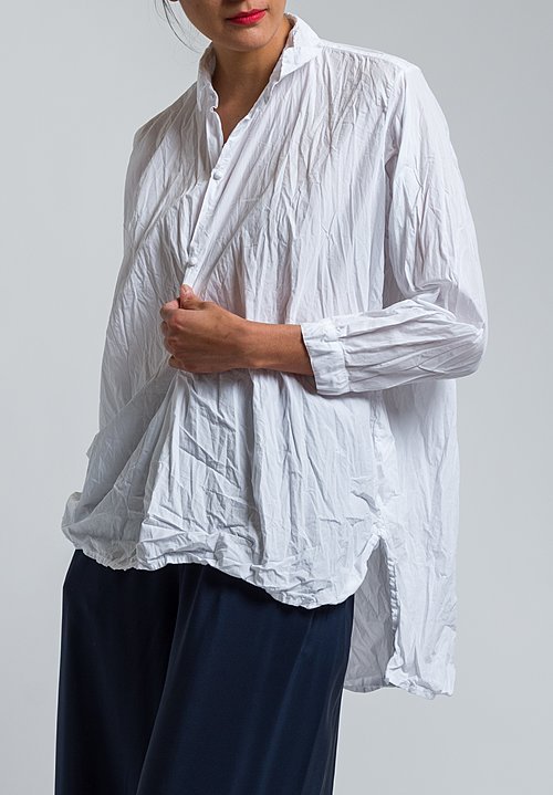 Daniela Gregis Washed Cotton Fratello Shirt in Optical White
