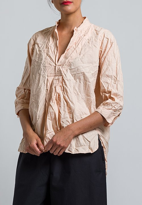 Daniela Gregis Washed Pepe Kora Top in Peach
