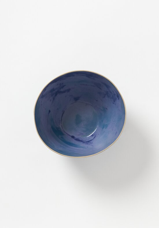 Laurie Goldstein Tall Ceramic Salad Bowl in Blue