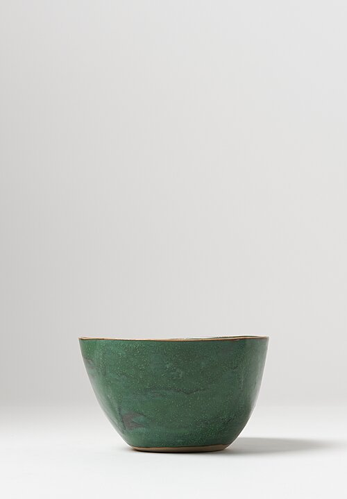 Laurie Goldstein Tall Ceramic Salad Bowl in Green