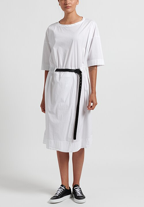Album di Famiglia Belted Dress in White