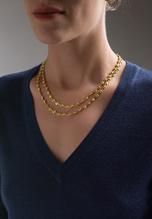 Greig Porter 18K, Long Nugget Necklace