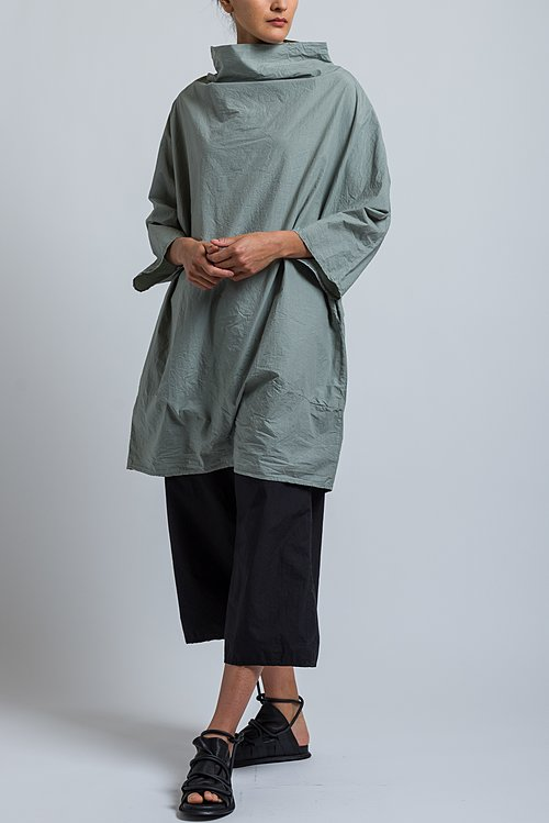 Album di Famiglia High Neck Tunic in Khaki Grey