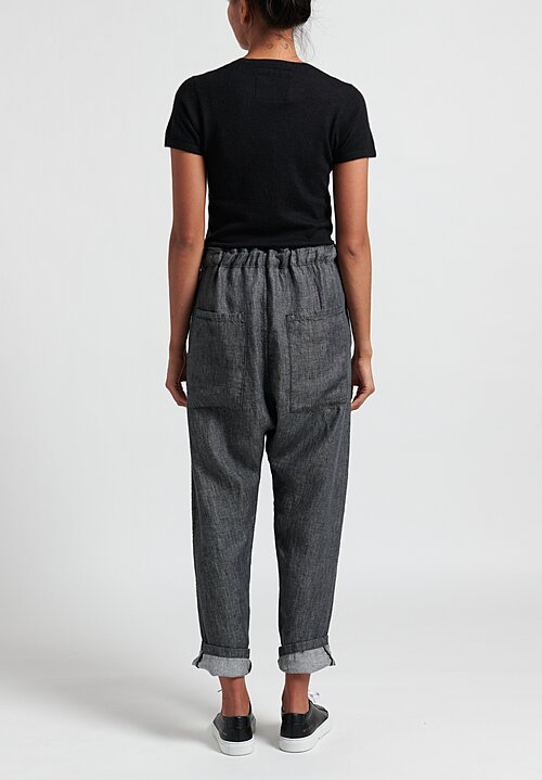 Album di Famiglia Belted Trousers in Slate Black