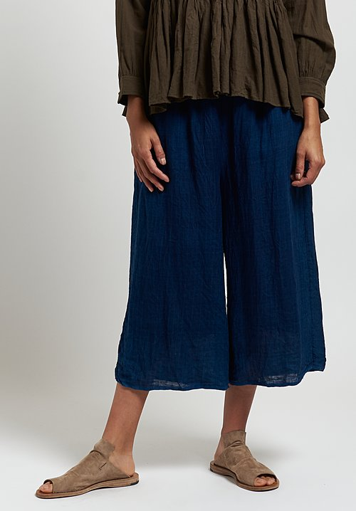 Maison de Soil Easy Striped Pants in D. Indigo/ L. Indigo
