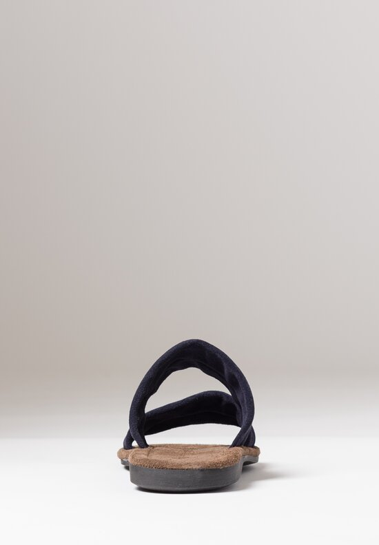 Maison de Soil Leather Parallel Strap Sandal in Adriano Night