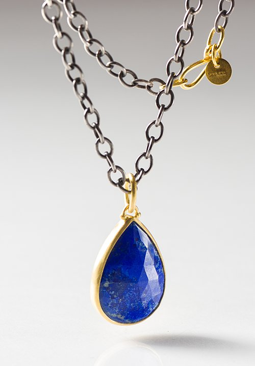 Stephanie Albertson 22K, Lapis Pear Drop Pendant