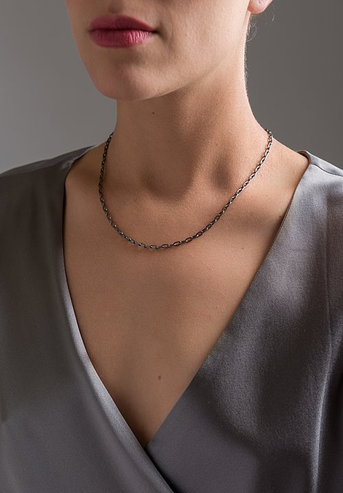 Stephanie Albertson 22K, 18 in. Rhodium Blackened Silver Chain