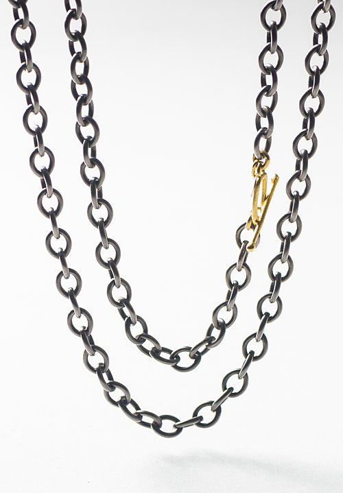 Stephanie Albertson 22K, 20 in. Rhodium Blackened Silver Chain