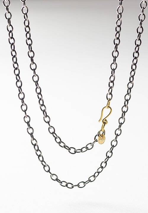 Stephanie Albertson 22K, 32 in. Rhodium Blackened Silver Chain