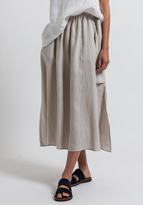 Cosmic Wonder Light Linen Skirt in Greige
