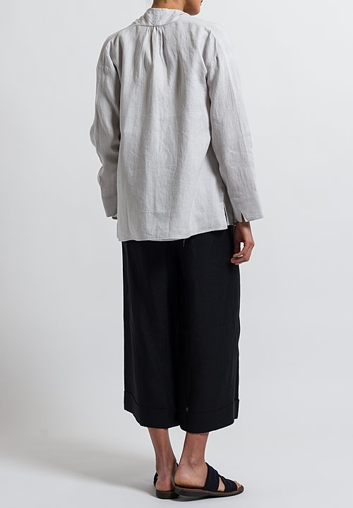 Cosmic Wonder Linen Haori Jacket in Light Grey