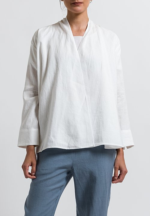 Cosmic Wonder Linen Haori Jacket in White