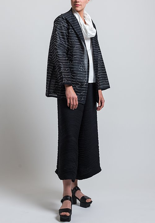 Nuno Silk Kibiso Not-Knots Jacket in Black