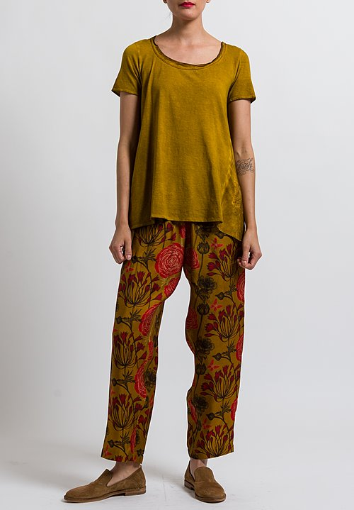 Uma Wang Cotton Candore Jade Top in Mango