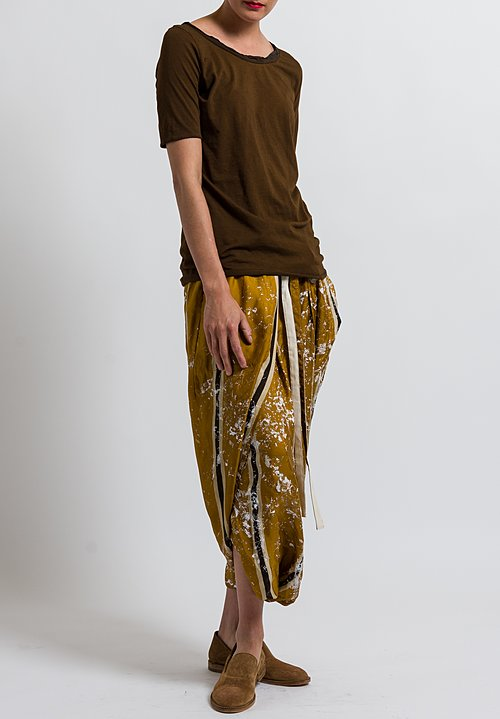 Uma Wang Stretch Cotton Jane Top in Coffee
