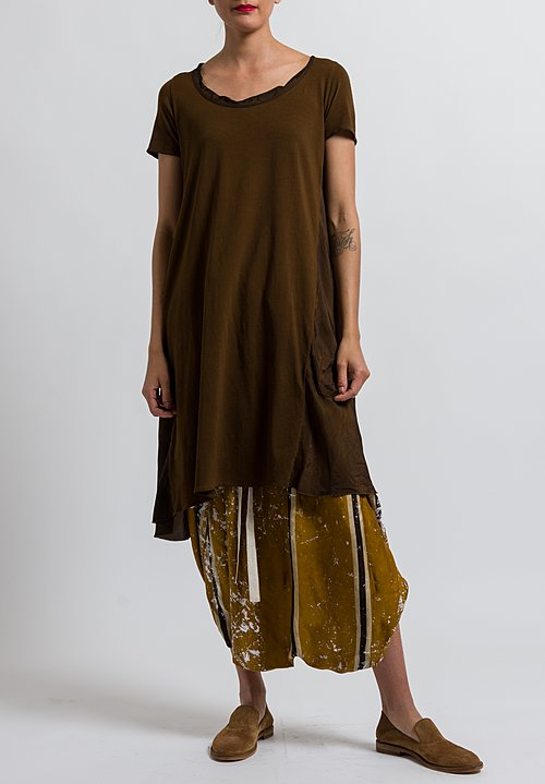 Uma Wang Cotton Dina Tunic in Coffee