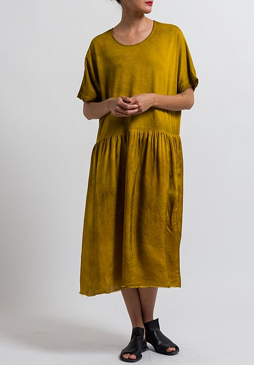 Uma Wang Cotton Dana Dress in Mango