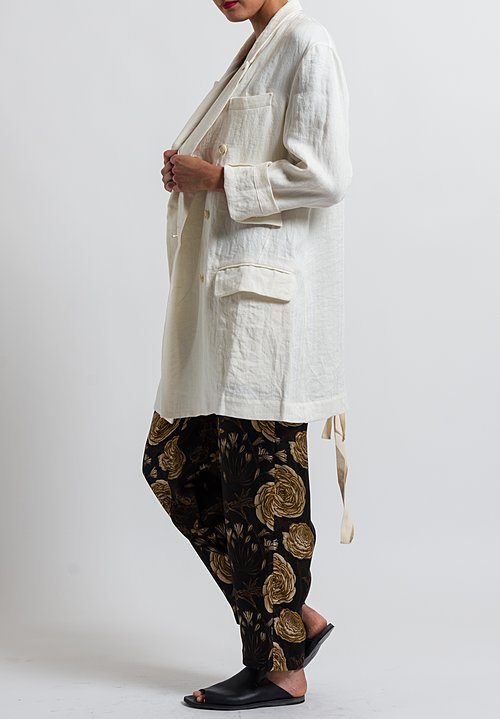 Uma Wang Linen Nebida Kaira Jacket in Off White