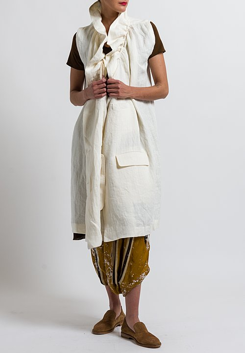 Uma Wang Linen Nebida Kailasa Jacket in Off White