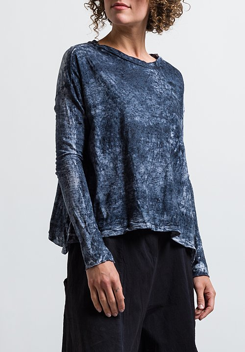 Gilda Midani Long Sleeve Trapeze Tee in Mist