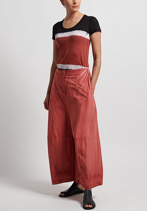 Gilda Midani Cotton Egg Pants in Flame