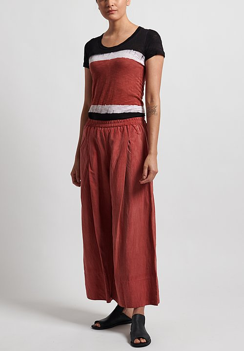 Gilda Midani Pleat Pants in Flame