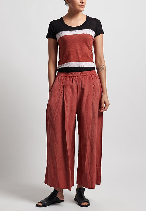 Gilda Midani Pleat Pants in Red