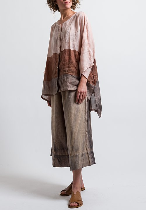 Gilda Midani Linen Panta Pants in Cement