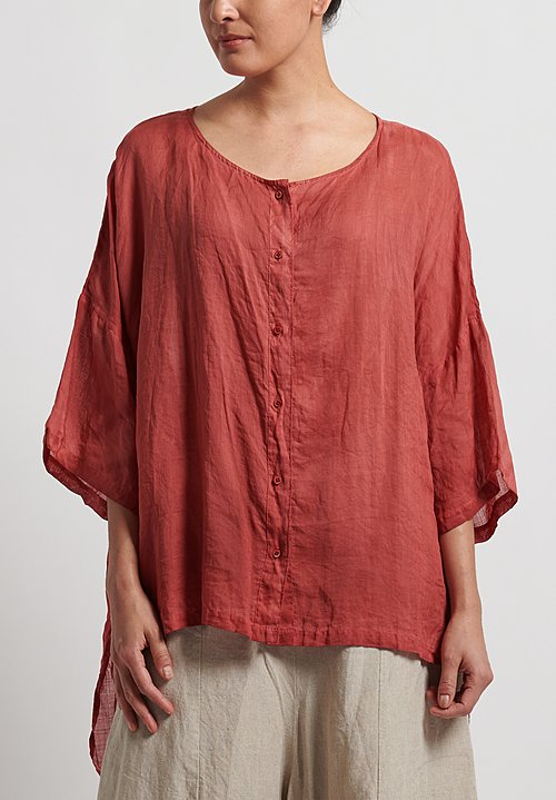 Gilda Midani Sheer Super Shirt in Flame