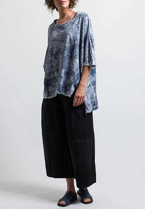 Gilda Midani Pattern Dyed Short Sleeve Super Tee in Mist