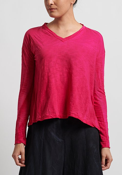 Gilda Midani V-Neck Trapeze Tee in Pink