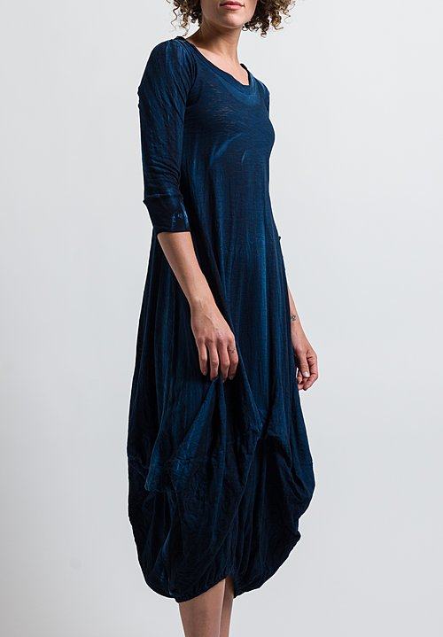 Gilda Midani Balloon Dress in Deep Blue