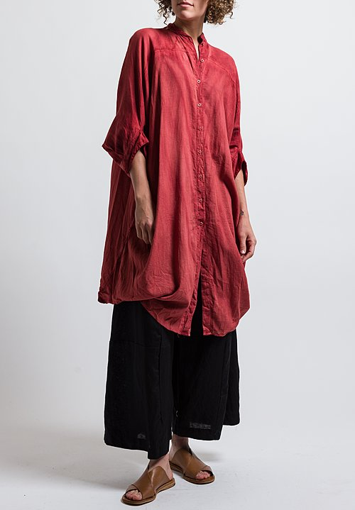 Gilda Midani Linen Square Dress in Flame