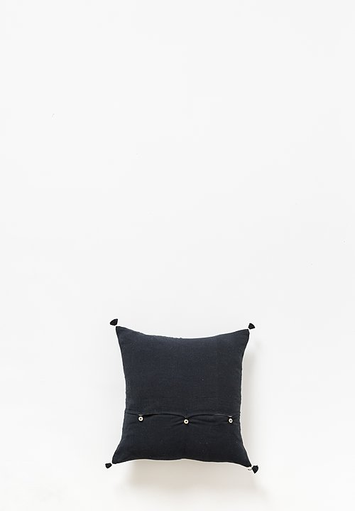 Injiri Small Organic Cotton Jat Pillow in Black