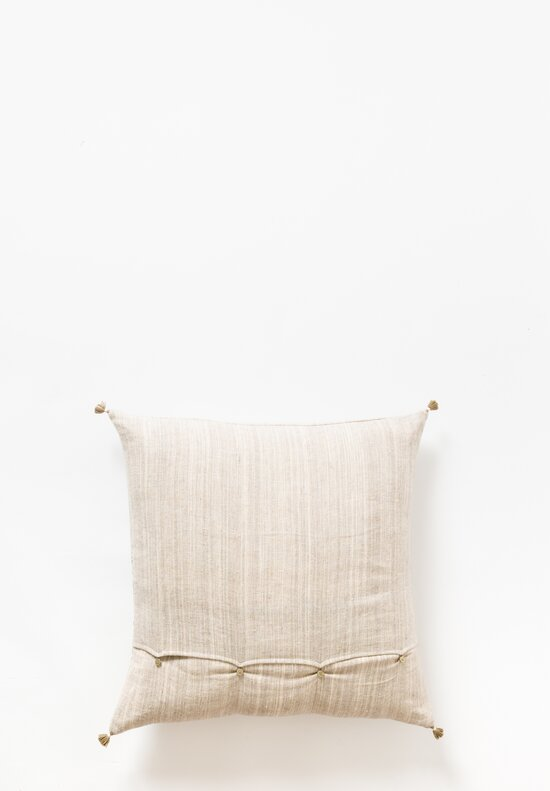 Injiri Large Handwoven Square Pillow in Natural